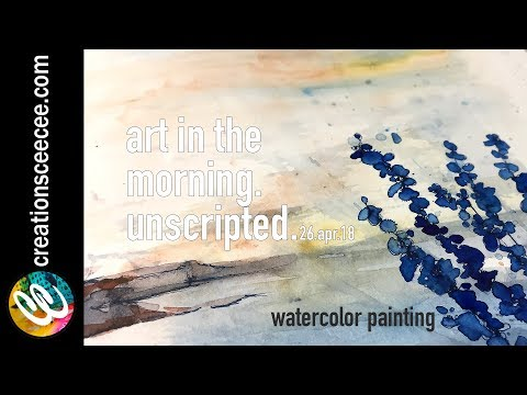 seascape watercolor painting: analizing and correcting process with narrative