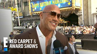 Dwayne Johnson Talks Working With Ex-Wife on