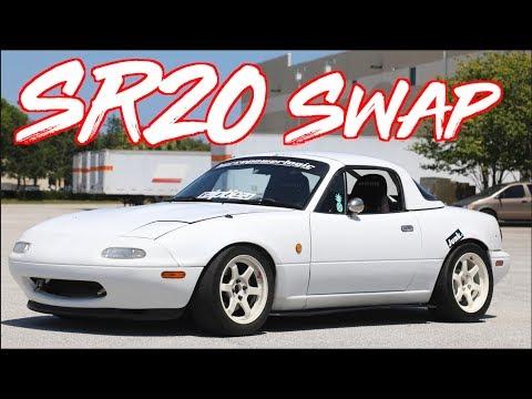 "ROWDY SR20 Swap RHD Miata on BOOST! - ""Ricer Miata"""