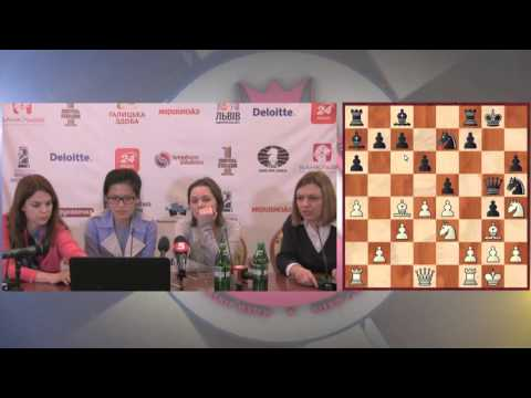 Women's World Chess Championship Match. Round 6 press-conference.