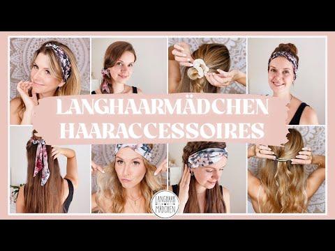 Frisuren mit Haarbändern und anderen Accessoires - Frisuren mit den Langhaarmädchen