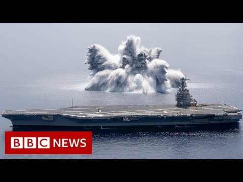 US warship tested with 40,000lb explosive - BBC News