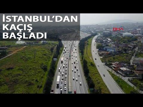 'Tam Kapanma' Kararının Ardından İstanbul'dan İl Dışına Gitmek İsteyenler Yola Çıktı
