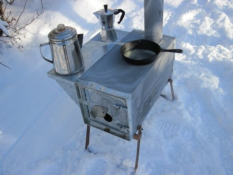 Make A Simple Cheap Tent Wood stove - Part 2