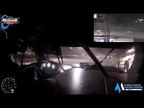 #65 Jerad Thelen IMCA Modified On-Board @ Nodak (8/29/21) - dirt track racing video image