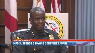 NBC 15 WPMI- Five Mobile towing companies remain on suspension