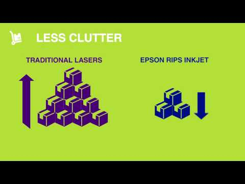 Traditional lasers Vs. Epson RIPS Inkjet