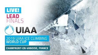 LIVE! Champagny, France l Lead Finals l 2019 UIAA Ice Climbing World Cup