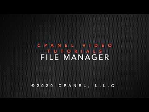 cPanel Tutorials - File Manager