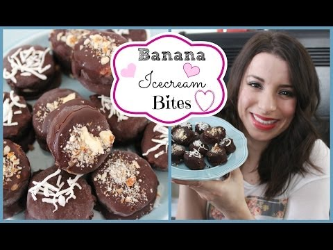 ♡ ♥ How To & Recipe: Banana Ice-cream Bites ♥ ♡ Healthy, Dairy Free & No-Bake