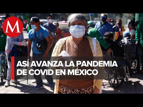 México suma 181 mil 809 muertes por covid-19