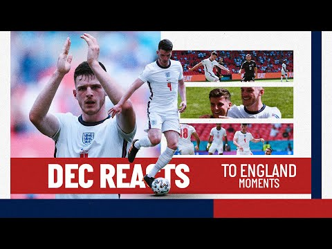 DECLAN RICE REACTS TO HIS ENGLAND MOMENTS