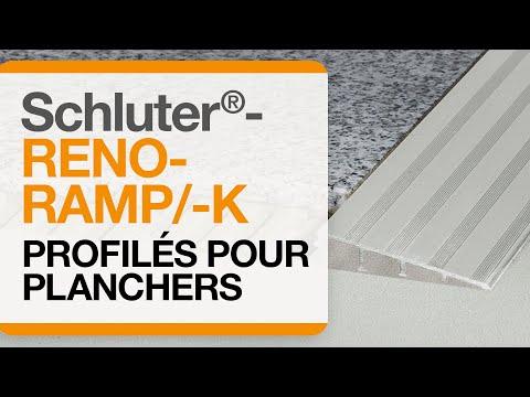 Comment installer un profilé de transition dans un carrelage au sol : Schluter®-RENO-RAMP/-K