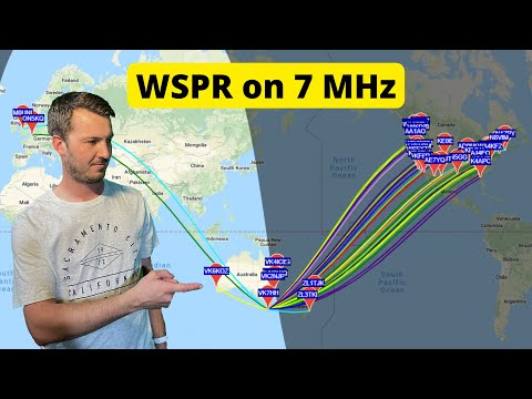 Looking at 40 meter Propagation using WSPR and a EFHW Antenna