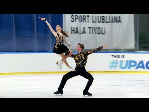 Софья Качушкина - Олег Муратов. Ритм-танец. Танцы на льду. Любляна. Гран-при по фигурному катанию 20