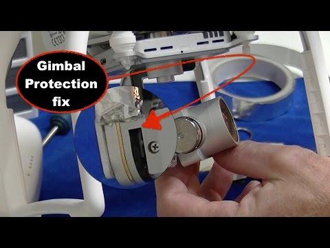 DJI Phantom 3 / Gimbal & Ribbon cable protection low cost fix mod - UCcuuqTm_KGw9HcgkIYC6JTA