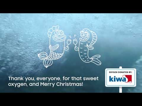 Kiwa Inspecta Christmas Greetings - we donated oxygen to the Baltic Sea