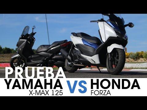 Comparativa 125: Yamaha X MAX & Honda Forza - videoprueba - castellano - 2016