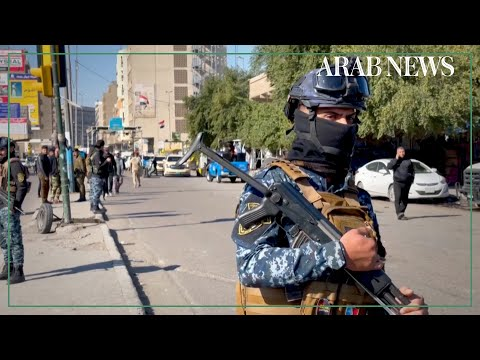Security forces at site of rare suicide attack in central Baghdad
