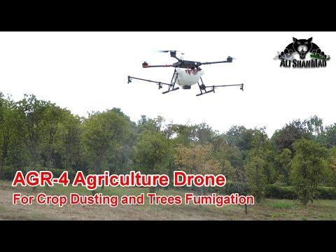 AGR-4 Agriculture Drone Crop Dusting Drone Setup and Flight Instructions - UCsFctXdFnbeoKpLefdEloEQ