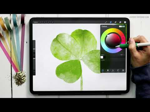 Paint a Watercolor Clover in Procreate
