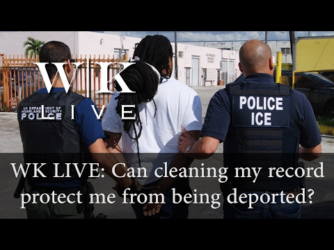 Will cleaning your criminal record protect you from being deported?