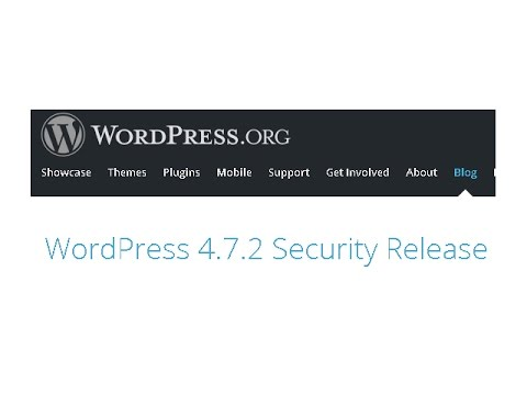 WordPress - 4.7.2 Security Release Available