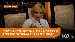 Cynthia Viteri invita a Lenín Moreno al acuerdo nacional por la seguridad -Teleamazonas