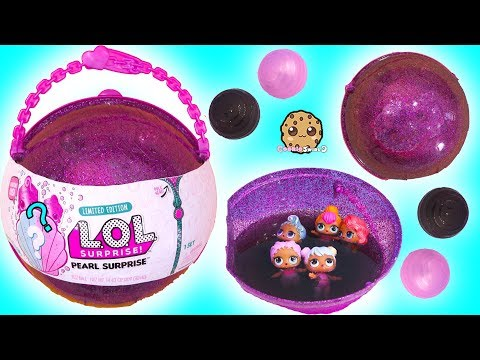 LOL Big Pearl Surprise Blind Bag Ball with Fizz Shell In Water - Toy Video - UCelMeixAOTs2OQAAi9wU8-g