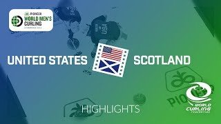 HIGHLIGHTS: United States v Scotland - Pioneer Hi-Bred World Men's Curling Championship 2019