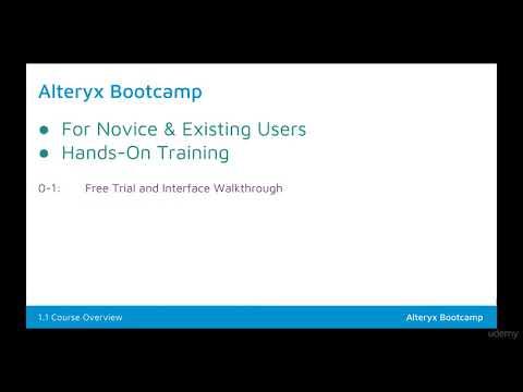 Alteryx Bootcamp - Learn Development Tools