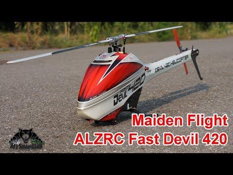 ALZRC Fast Devil 420 Electric 3D RC Helicopter Maiden Flight - UCsFctXdFnbeoKpLefdEloEQ