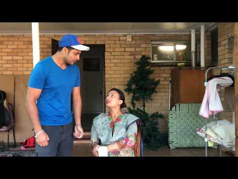 Head Massage | | Mr Sammy Naz | Nasir Kaur | Punjabi Funny Video | Husband Wife Kalol