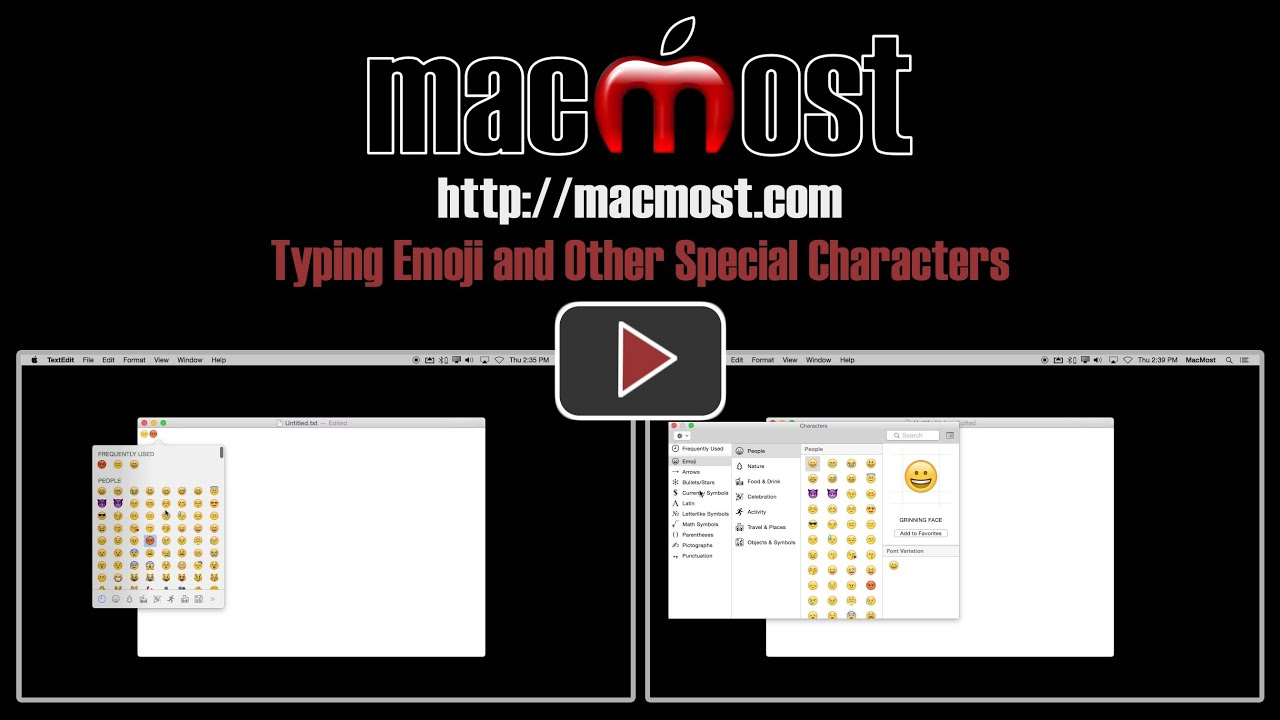 Typing emoji and other special characters macmost buycottarizona Images