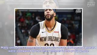 NBA fans react to noticeable gap between Spur LaMarcus Aldridge, Kawhi Leonard in All-Star photo