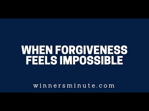When Forgiveness Feels Impossible  The Winner's Minute With Mac Hammond