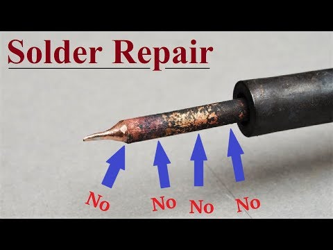 Repair Soldering Iron || Solder NOT sticking to the Tip , how to Clean and re tin - UCWFbPzBb7dCyCWuBA-DBrMA