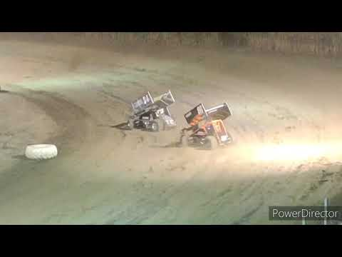 Great Lakes Super Sprints A-Main - I-96 Speedway - 9-3-2021 - dirt track racing video image