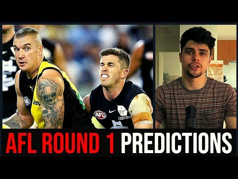 AFL Round 1 2019 Predictions | TRUE FOOTY REACTS