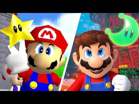 Super Mario Odyssey (2017) vs. Super Mario 64 (1996) - UCNd0qqcBpuXCWPM76lDUxqg