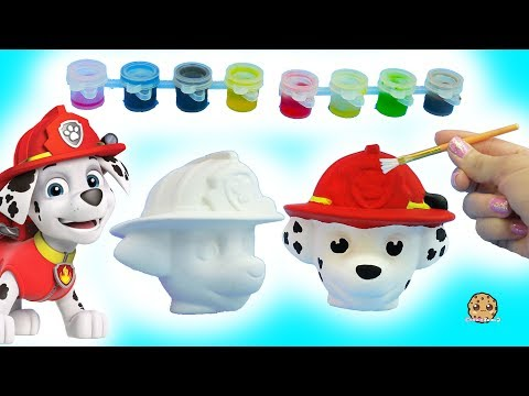 Painting A Dog Head - DIY Paw Patrol Marshall Pup + Cute Food Suncatcher - Craft Video - UCelMeixAOTs2OQAAi9wU8-g