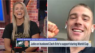 World Cup champion Julie Ertz discusses Zach Ertz's support