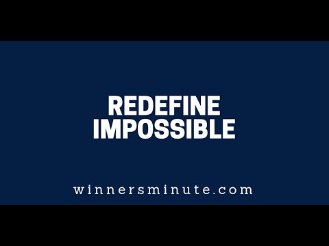 Redefine Impossible  The Winner's Minute With Mac Hammond