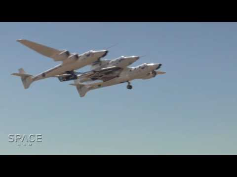 Virgin Spaceship 'Unity' Takes Flight Mated To WhiteKnightTwo   Video - UCVTomc35agH1SM6kCKzwW_g