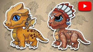【 LDP 】How to draw Golden dragon and Tribal dragon from dragon mania legends