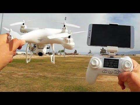 SJRC S20W GPS FPV Follow Me Camera Drone Flight Test Review - UC90A4JdsSoFm1Okfu0DHTuQ