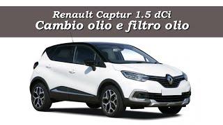 Sostituzione filtro olio Captur Renault