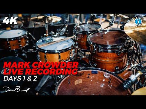 Mark Crowder Live Recording! // Rehearsal Days 1 & 2 // Drum Vlog