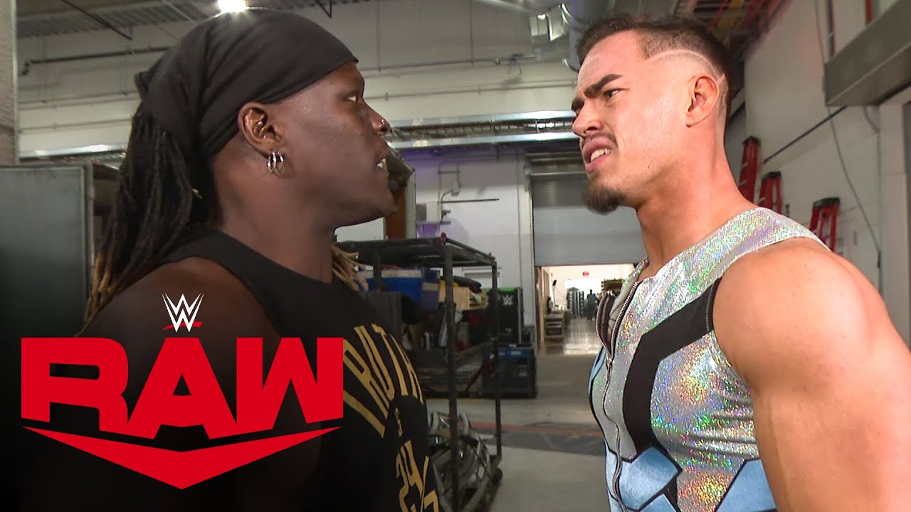 R-Truth crashes Austin Theory's interview in pursuit of the 24/7 Title: Raw, Oct. 18, 2021