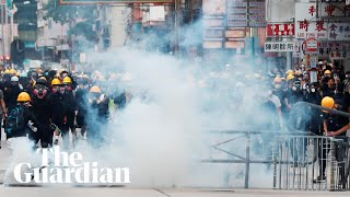 Hong Kong police fire teargas in city centre as clashes intensify
